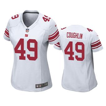 Women's 2020 Draft Giants #49 Carter Coughlin White Football Game Jersey