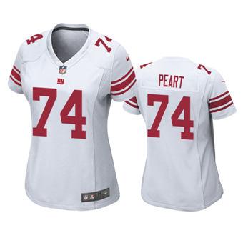 Women's 2020 Draft Giants #74 Matt Peart White Football Game Jersey
