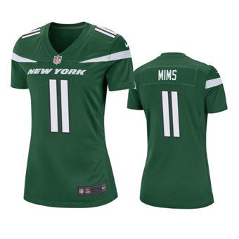 Women's 2020 Draft Jets Green Denzel Mims Game Jersey