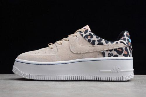 """Women's Air Force 1 Sage Low Premium """"Leopard"""" Shoes"""
