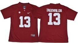 Women's Alabama Crimson Tide #13 Tua Tagovailoa Red Limited Stitched NCAA Jersey