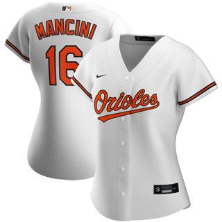 Women's Baltimore Orioles #16 Trey Mancini Home 2020 Baseball Player Jersey White