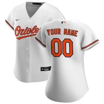 Women's Baltimore Orioles 2020 Home Replica Custom Jersey - White