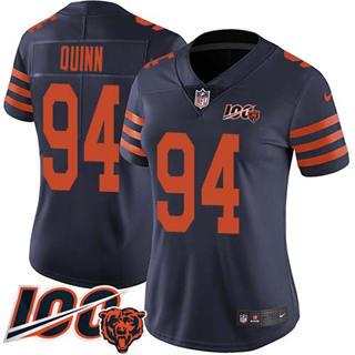 Women's Bears #94 Robert Quinn Navy Blue Alternate Stitched Football 100th Season Vapor Untouchable Limited Jersey