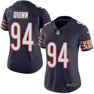 Women's Bears #94 Robert Quinn Navy Blue Team Color Stitched Football Vapor Untouchable Limited Jersey
