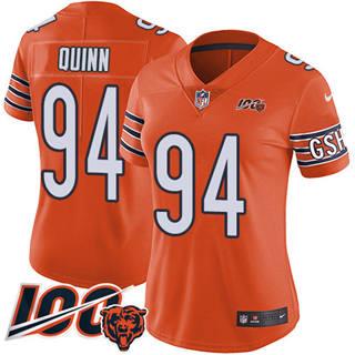 Women's Bears #94 Robert Quinn Orange Stitched Football Limited Rush 100th Season Jersey