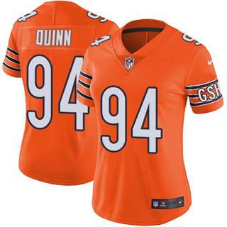 Women's Bears #94 Robert Quinn Orange Stitched Football Limited Rush Jersey