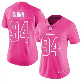 Women's Bears #94 Robert Quinn Pink Stitched Football Limited Rush Fashion Jersey