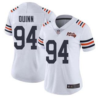 Women's Bears #94 Robert Quinn White Alternate Stitched Football Vapor Untouchable Limited 100th Season Jersey