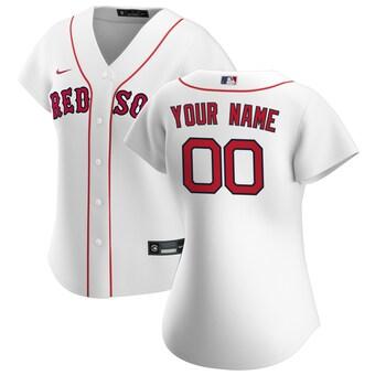 Women's Boston Red Sox 2020 Home Replica Custom Jersey - White