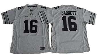 Women's Buckeyes #16 J. T. Barrett Gridion Grey II Stitched NCAA Jersey