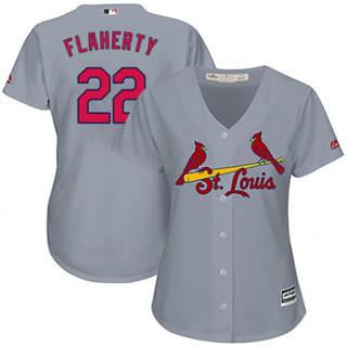 Women's Cardinals #22 Jack Flaherty Grey Road Stitched Baseball Jersey