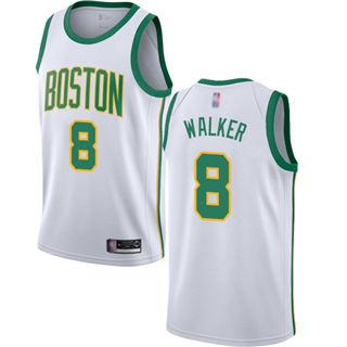 Women's Celtics #8 Kemba Walker White Basketball Swingman City Edition 2018-19 Jersey