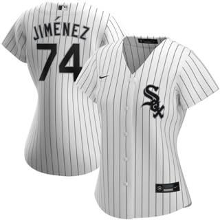 Women's Chicago White Sox #74 Eloy Jimenez Home 2020 Baseball Player Jersey White