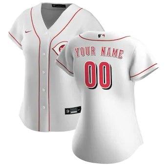 Women's Cincinnati Reds 2020 Home Replica Custom Jersey - White