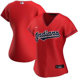 Women's Cleveland Indians Alternate 2020 Baseball Team Jersey Red