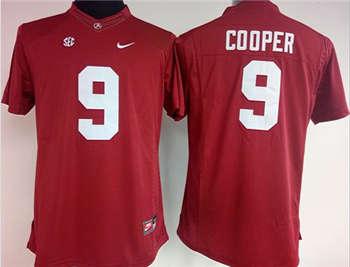 Women's Crimson Tide #9 Amari Cooper Red Stitched NCAA Jersey