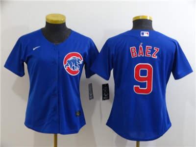 Women's Cubs #9 Javier Baez Royal 2020 Stitched Baseball Cool Base Jersey
