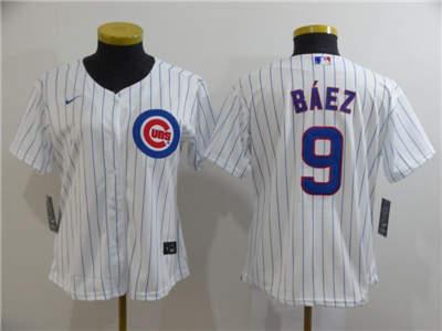 Women's Cubs #9 Javier Baez White 2020 Stitched Baseball Cool Base Jersey