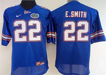 Women's Gators #22 Emmitt Smith Blue Stitched NCAA Jersey