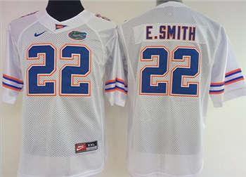 Women's Gators #22 Emmitt Smith White Stitched NCAA Jersey