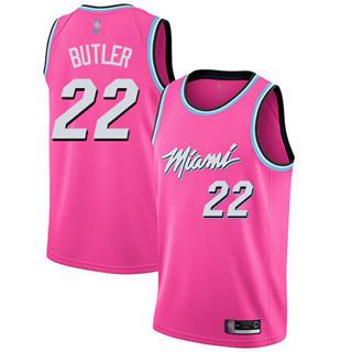 Women's Heat #22 Jimmy Butler Pink Basketball Swingman Earned Edition Jersey