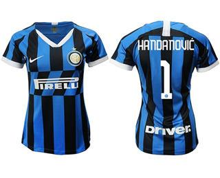 Women's Inter Milan #1 Handanovic Home Soccer Club Jersey