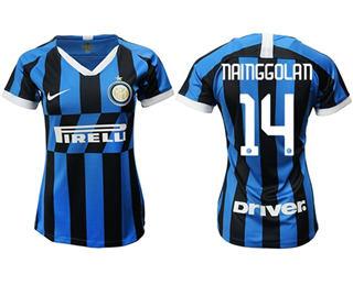 Women's Inter Milan #14 Nainggolan Home Soccer Club Jersey