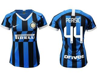 Women's Inter Milan #44 Perisic Home Soccer Club Jersey