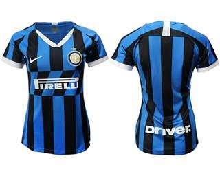 Women's Inter Milan Blank Home Soccer Club Jersey