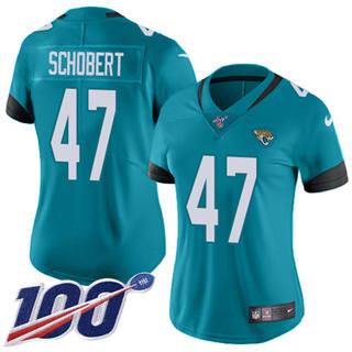 Women's Jaguars #47 Joe Schobert Teal Green Alternate Stitched Football 100th Season Vapor Untouchable Limited Jersey