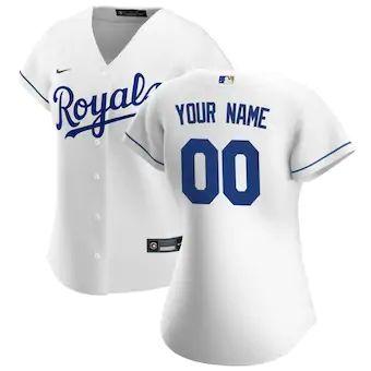 Women's Kansas City Royals 2020 Home Replica Custom Jersey - White
