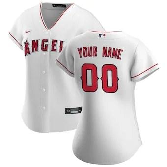 Women's Los Angeles Angels 2020 Home Replica Custom Jersey - White