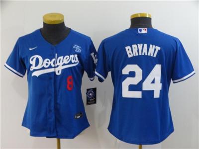Women's Los Angeles Dodgers #8-24 Kobe Bryant Royal Alternate 2020 Baseball Team Jersey with KB Patch