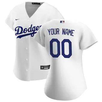 Women's Los Angeles Dodgers 2020 Home Replica Custom Jersey - White
