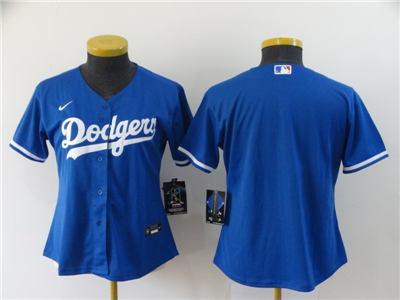 Women's Los Angeles Dodgers Blank Royal Alternate 2020 Baseball Team Jersey