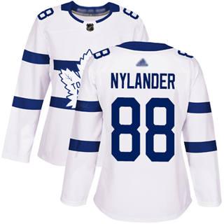 Women's Maple Leafs #88 William Nylander White Authentic 2018 Stadium Series Stitched Hockey Jersey
