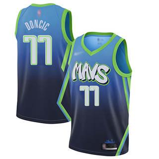 Women's Mavericks #77 Luka Doncic Blue Basketball Swingman City Edition 2019-2020 Jersey