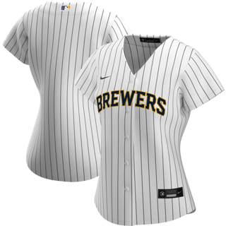 Women's Milwaukee Brewers Alternate 2020 Baseball Team Jersey White Navy