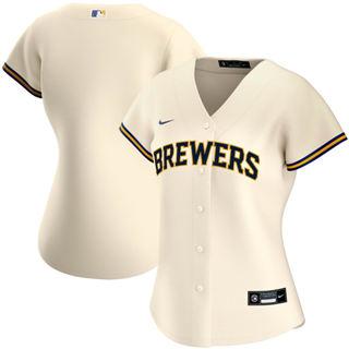 Women's Milwaukee Brewers Home 2020 Baseball Team Jersey Cream