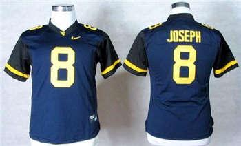 Women's Mountaineers #8 Karl Joseph Navy Blue Stitched NCAA Jersey