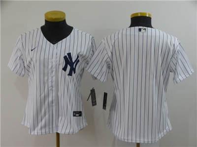 Women's New York Yankees Blank White Home 2020 Baseball Team Jersey