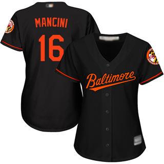 Women's Orioles #16 Trey Mancini Black Alternate Stitched Baseball Jersey