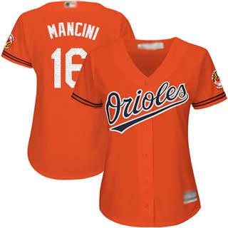 Women's Orioles #16 Trey Mancini Orange Alternate Stitched Baseball Jersey