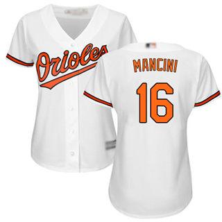 Women's Orioles #16 Trey Mancini White Home Stitched Baseball Jersey
