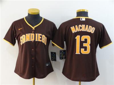 Women's Padres #13 Manny Machado Brown 2020 Baseball Cool Base Jersey