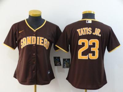 Women's Padres #23 Fernando Tatis Jr. Brown 2020 Baseball Cool Base Jersey