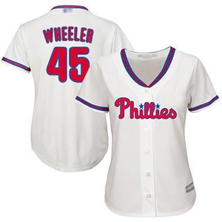 Women's Phillies #45 Zack Wheeler Cream Alternate Stitched Baseball Jersey