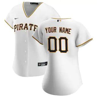 Women's Pittsburgh Pirates 2020 Home Replica Custom Jersey - White