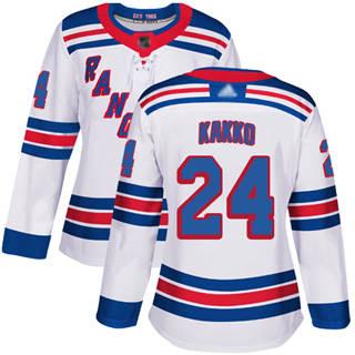 Women's Rangers #24 Kaapo Kakko White Road Authentic Stitched Hockey Jersey